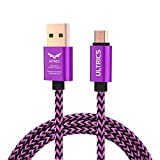 ULTRICS Micro USB Kabel 1M, Nylon Geflochten Ladekabel High Speed 480Mbps Datenkabel, Schnellladekabel Kompatibel mit Samsung Galaxy S6/S7 Edge, Sony Nokia LG, PS4 Xbox, Tablet und andere Android