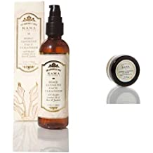 Kama Ayurveda Rose and Jasmine Face Cleanser, 100ml + Almond and Coconut Lip Balm sample, 5g