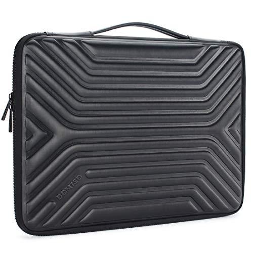 """DOMISO 15-15,6 Zoll Wasserdicht Laptophülle Notebook Tasche Schutzhülle mit Griff für 15.6\"""" Lenovo IdeaPad ThinkPad/HP Spectre x360 Pavilion 15 Envy 15 / Dell XPS 15 / Apple/Asus, Schwarz"""