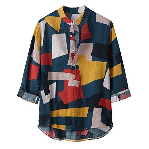 Hawaiihemd Herren Lange Ärmel | Front-Taste| Hawaii-Print | Verschiedene Designs -
