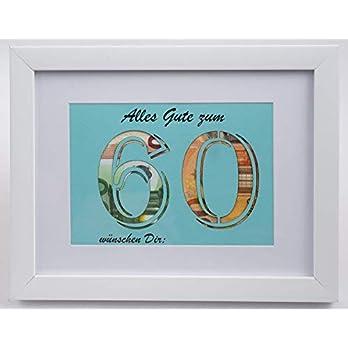 Geldgeschenk zum 60. Geburtstag (Farbe wählbar), Geldverpackung