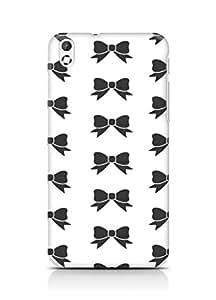 Amez designer printed 3d premium high quality back case cover for HTC Desire 816 (black white bow ribbon)
