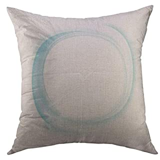 uytgyuhioj Pillow Cover Circle Abstract Blue Swirl Air Home Decorative Square Throw Pillow Cushion Cover 18x18 inch Pillowcase