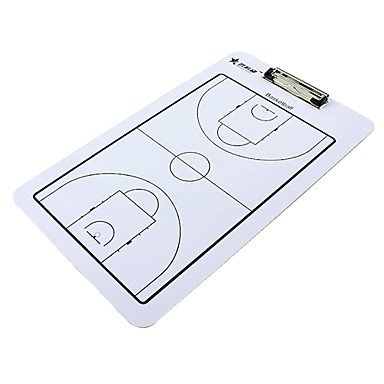Doppelseitiges Basketball Coaching Board mit 2 Stifte & 1 Radierer