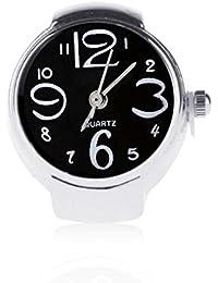 Anello con l'orologio delle donne di modo Regali registrabili del regalo della signora dei monili dell'anello della barretta del quarzo allungabile Bobury