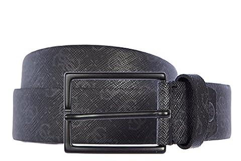 Guess men's adjustable length genuine leather belt black UK size 40 BM2043LEA35