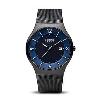 BERING Reloj Analógico para Hombre de Energía Solar con Correa en Acero Inoxidable 14440-227