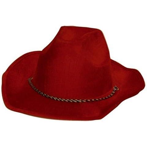 Sombrero de vaquero de terciopelo de