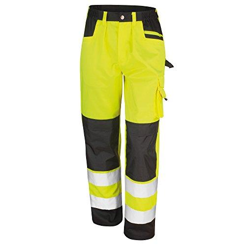 Result safeguard - pantaloni cargo alta visibilità - adulti/unisex (xl) (giallo)
