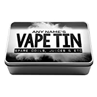 Personalised Vaping Storage Tin vape storage e juice coils rings supplies gift idea for vapers 10