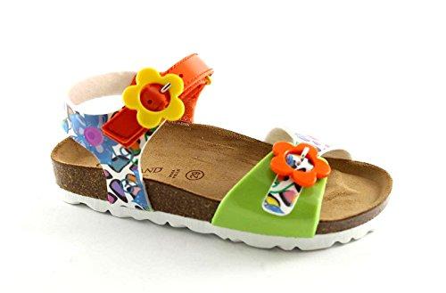 Grünland LUMIERE SB0566 31/35 sandales enfant fleurs boucle Tear Multicolore