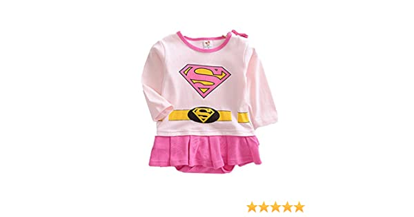 9aeffbe88 Baby Boy Girl Infant SuperGirl Superhero Rompers Bodysuit Onesie Babygrow  Outfit Sets Range of Sizes With Cape Superman UK SELLER (6-12 Months): ...