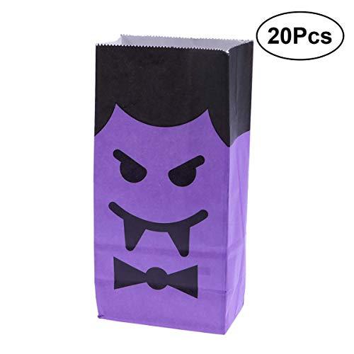 HEALIFTY 20 stücke Party Papiertüten Halloween Süßigkeiten Goody Taschen für Kinder (Amüsanter Vampir) (Für Kinder Halloween-süßigkeiten)