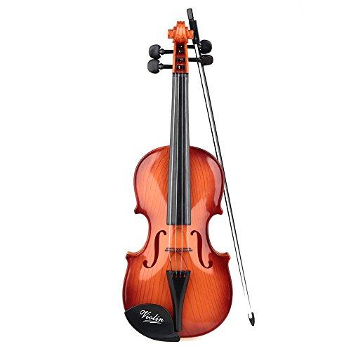 Lujex Kinder Violine Kind Spielzeug Minimusik Violine mit Bow 55*23*10cm Violine für Kinder (M, Kaffee)