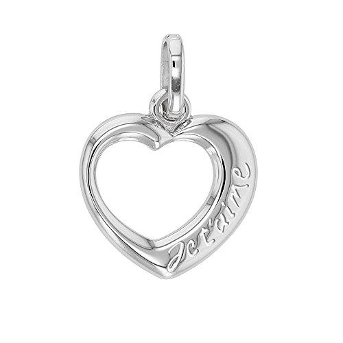 jouailla–Anhänger Silber in Herz Gravur 'Ich liebe dich'