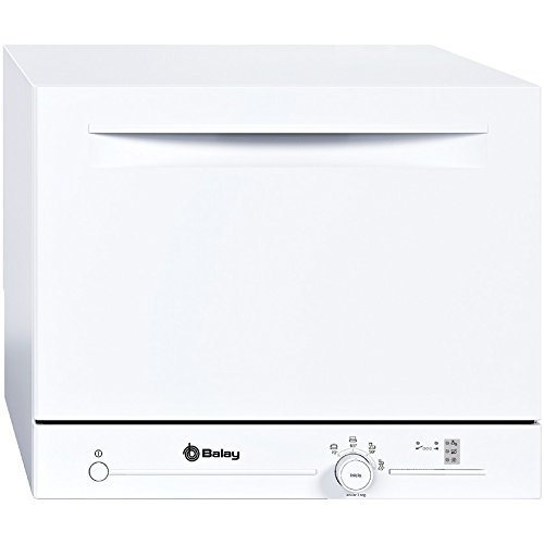 Balay 3VK301BC Encimera 6cubiertos A+ lavavajilla - Lavavajillas (Encimera, Color blanco, Color blanco, Botones, Giratorio, 1,7 m, 1,5 m)