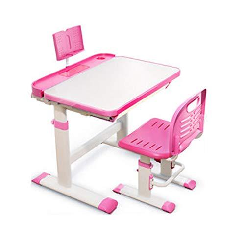 Kinder Study Table Multi-Funktions-Schreibtisch Kann Angehoben Und Gesenkt Werden 0-40 ° Kann Angehoben Und Gesenkt Werden Kinder-Tisch Und Stuhl-Kombination Mit Lesegestell Frei Heben 2-18 Jahre Alt