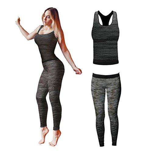 Sportzone - Leggings sportivi -  donna Black Vest Top