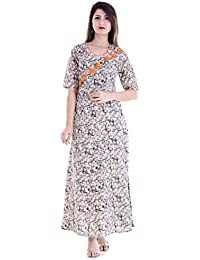 Fab Rajasthan Unique Arts New Printed Long Length Anarkali Cotton Kurti For Womens