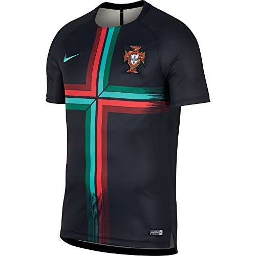 5b402d4dbdd Nike 2018-2019 Portugal Pre-Match Training Football Soccer T-Shirt Camiseta  (