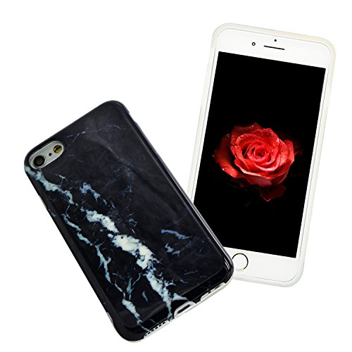 iPhone 5S Marmor Hülle,iPhone 5 Marble Case,Sunroyal Kreative Stylish Schickes Retro Elegant Schön Luxus Pure Schwarz Grain Stein Pattern Silikon Handyhülle Weiß Stein Glamour Ultradünn Marble Malerei Pattern 10
