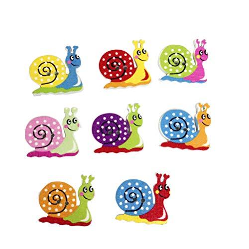 healifty 50pcs Madera Botones Botones infantiles DIY Costura Scrapbooking Artesanía (Color surtidos)