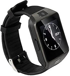 Bluetooth Smartwatch With Sim & Tf Card Support With Apps Like Facebook And Whatsapp Touch Screen Multilanguage Android / Ios Mobile Phone Wrist Watch Phone With Camera Activity Trackers And Fitness Band Supported Devices Compatible With Micromax Bolt A28 By Jiyanshi