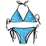 Hoklcvd Women Sexy Swimwear Set Water Surface Tie Side Padding Bathing Swimsuit