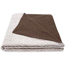 """ZOLLNER® Manta grande para sofá imitación piel / manta sofá piel sintética / cubrecamas, 150x200 cm, anverso imitación piel y reverso de forro polarWendedecke, del especialista textil, serie """"Avalon"""""""