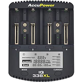 AccuPower LCD Fast Charger IQ338XL for Li-Ion/Ni-MH/Ni-Cd