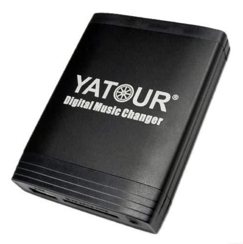 Yatour Adaptateur USB SD AUX MP3 et kit mains libres Bluetooth pour Nissan Almera à partir de 1997, Primera à partir de 1997, Micra à partir de 1997, Navara, Note, Qashqai, Tiida, X-Trail