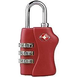 Rosa TSA Candado de seguridad para equipaje Maleta Combinación de 3dígitos de Viaje