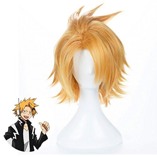 Ani·Lnc Anime Cosplay Perücke kurze Halloween Kostüm Held Perücke (goldene Blondine)