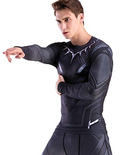Cody Lundin Herren Mode Krieger gedruckt T-shirt Joggen Motion Party im freien Stil Fitness Langarm (M) (Long Under Sleeve-lange Armour Unterwäsche)