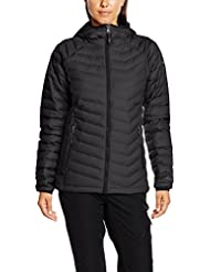 Columbia Powder Lite Hooded - Cortavientos para mujer, color negro, talla XS