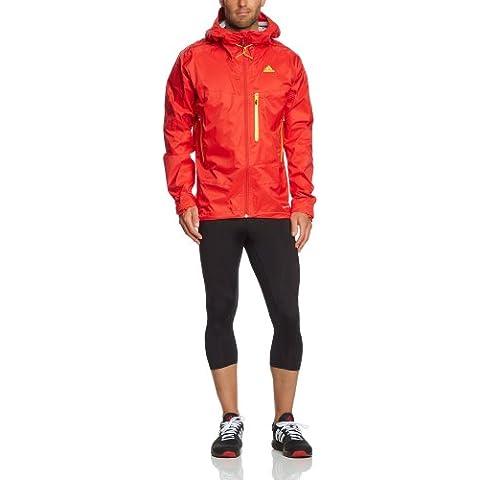 adidas Outdoorjacke Terrex Swift Light 2.5-layer Climaproof Storm - Chubasquero, color rojo, talla