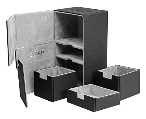 Ultimate Guard Twin FlipŽnŽTray Deck Case 200+ Caja de Cartas Tamaño Estándar XenoSkin Negro