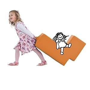 Lümmel Spielmöbel für Kinder in orange - der perfekte Sessel, Polsterhocker oder Sitzhocker für die Spielecke
