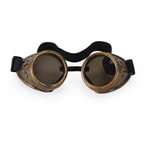 Lunettes steampunk, style vintage, rustique, cyber, goth, cosplay - cuivre, cuivré
