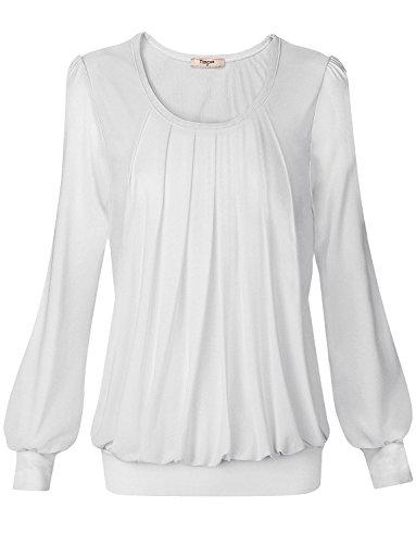 Chiffon Tie Dye (Timeson Damen Lamarmshirt Gr. xxxl, #05 White)