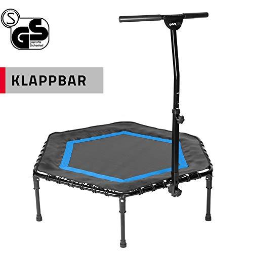 SportPlus Fitness-Trampolin, Klappfunktion optional, Ø 126cm, leise...