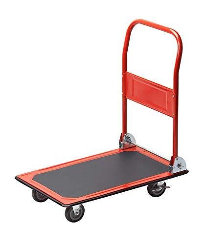 Meister Plattformwagen - Klappbar - Bis 150 kg Tragkraft - Feststellbremse / Transporthilfe mit Lenkrollen / Paketwagen mit Antirutsch-Beschichtung / Klappwagen aus Stahl / 8985400