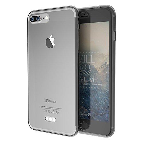Dulaxie - Mode 360   Grad Vollkörper-Schutz-Abdeckung Cases für iPhone 5S SE 6 6S 6Splus 7 7plus weiches TPU Gel-Kasten-Silikon-Gummi [Schwarz für iPhone5 SE]