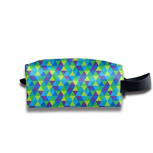 (C3) - Triangles In Cool Colors_10772 Borse da viaggio multifunzione per borse da trucco cosmetiche da viaggio portatili per unisex