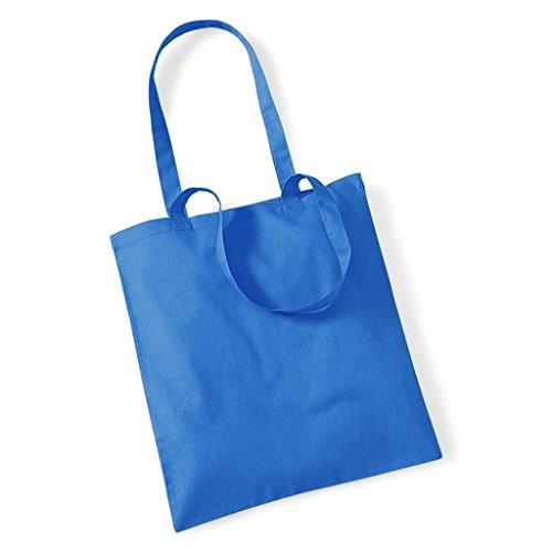 Westford Mill Promo Bag for Life, Baumwolle, Schultertasche, Shopper, Handtasche, One Size Blau - Cornflower Blue