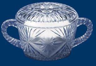 Crystal Cut Plastic 8oz Sugar Bowl with Lid by Maryland Plastics Crystal Sugar Bowl