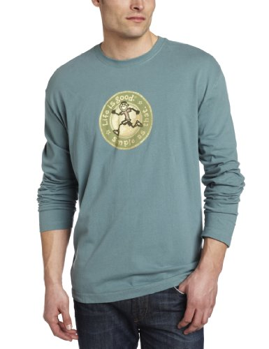 Life is Good Herren Cremige Long Sleeve Tee Light Spring Green