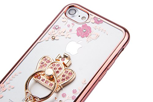 iPhone 6 Plus Coque,iPhone 6S Plus Silicone Coque,iPhone 6S Plus Housse - Felfy Glitter Etui Housse Placage Coque en Silicone Ultra-Mince Etui Soft Housse Plating Case Slim Gel Cover, Felfy Etui de Pr Rose Or Couronne Impériale