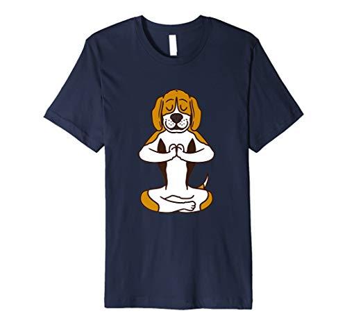 Beagle Yoga T shirt Namaste Spiritual Meditation Chakra -