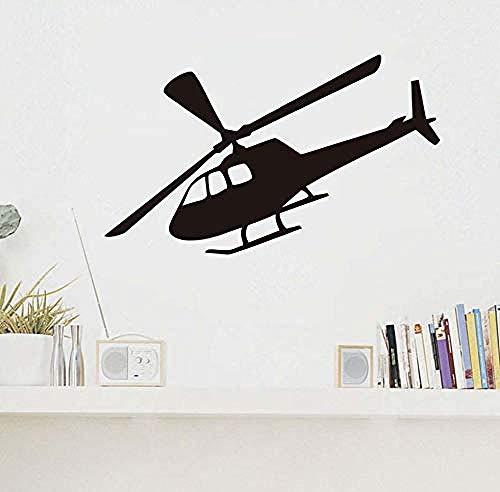 Wandaufkleber Art Adhesive Home Cartoon Flugzeug Wanddekoration Wandaufkleber Einfaches Design Hubschrauber Wohnzimmer Hintergrund Wand Design97x58cm